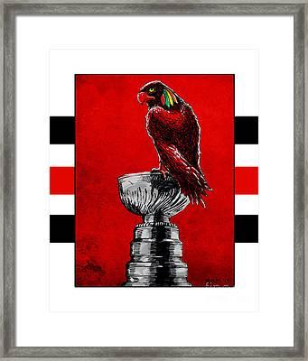 Champion Blackhawks Framed Print by Jason Meents