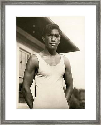 Champion Duke Kahanamoku Framed Print by Underwood Archives