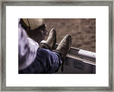Champion's Boots Framed Print by Amber Kresge