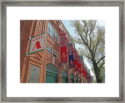 Championship Banners Framed Print by Barbara McDevitt