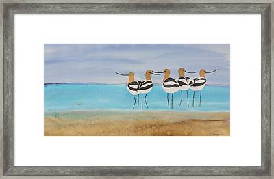 Chance Encounter At The Beach Framed Print by Carolyn Doe