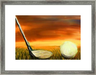 Chance To Hit Framed Print by Lourry Legarde