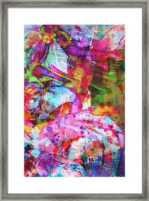 Chance Upon A Flower Framed Print by Michelle J Sergi