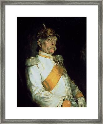 Chancellor Otto Von Bismarck Framed Print by Franz Seraph von Lenbach