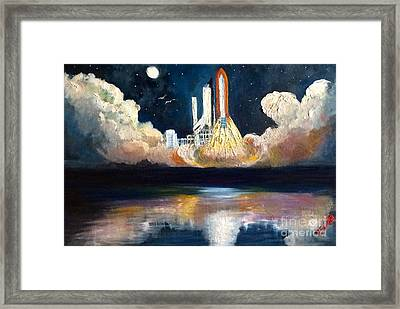 Chandra Launch  Framed Print by Tina Swindell