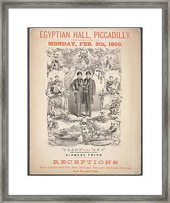 Chang And Eng Framed Print by British Library