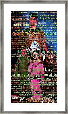 Chang The Chinese Giant - Human Carnival Sideshows And Other Oddities Of The World20130626tight Crop Framed Print by Wingsdomain Art and Photography