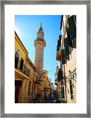 Chania Mosque 12 Framed Print by Antony McAulay