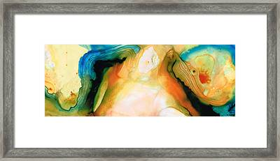 Channels - Abstract Art By Sharon Cummings Framed Print by Sharon Cummings