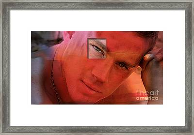 Channing Tatum Painting Framed Print by Marvin Blaine