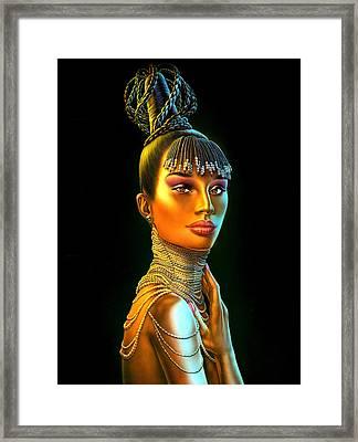 Chantel Framed Print by Andrew Farley