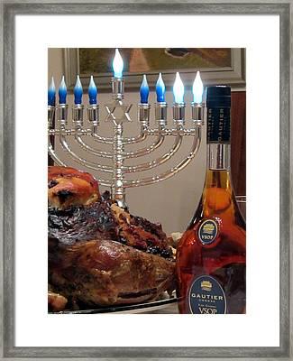 Chanukah Thanksgiving Celebration Framed Print by Vadim Levin