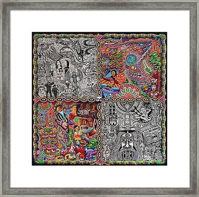 Chaos Culture Jam Framed Print by Chris Dyer