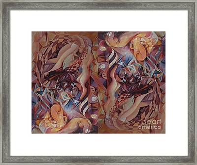 Chaos Management 2 Or Adolf And Eva Framed Print by Mikhail Savchenko