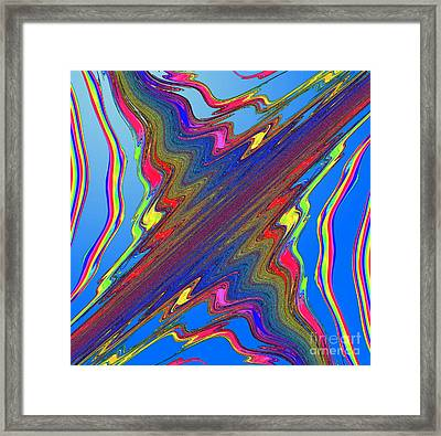 Chaotic Map, Computer Model Framed Print by Eric Heller