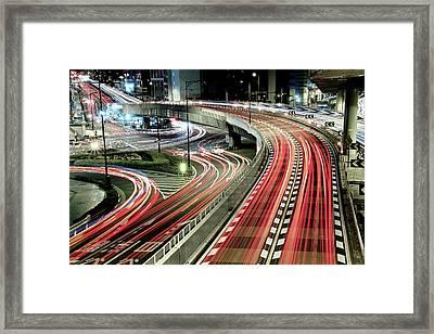 Chaotic Traffic Framed Print by Koji Tajima