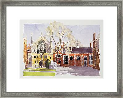 Chapel And Hall  Lincoln's Inn Framed Print by Annabel Wilson