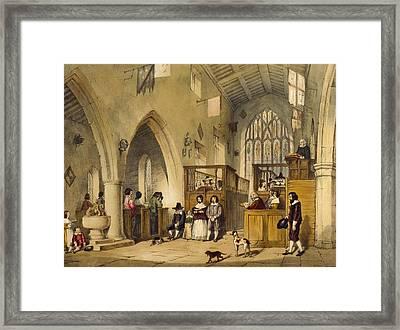 Chapel At Haddon Hall, Derbyshire Framed Print by Joseph Nash