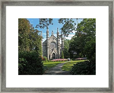 Chapel At Mt Auburn Cemetery Framed Print by Michael Saunders