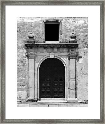 Chapel Doors Framed Print by Erin Tucker