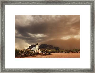 Chapel In The Storm Framed Print by Rick Furmanek