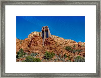 Chapel Of The Holy Cross Sedona Az Front Framed Print by Scott Campbell