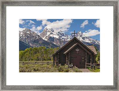 Chapel Of The Transfiguration - Grand Teton National Park Wyoming Framed Print by Brian Harig