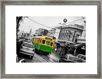 Chapel St Tram Framed Print by Az Jackson