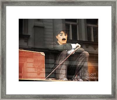 Chaplin In Prague Framed Print by John Rizzuto