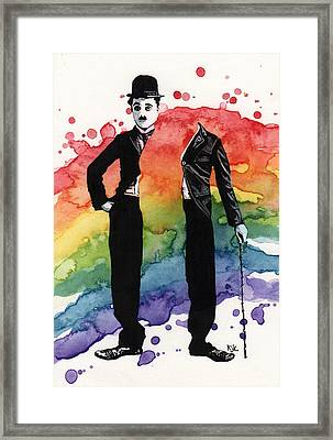 Chaplin Framed Print by Kelly Jade King