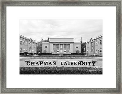 Chapman University Memorial Hall Framed Print by University Icons