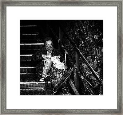 One Cigarette Framed Print by John Hesley