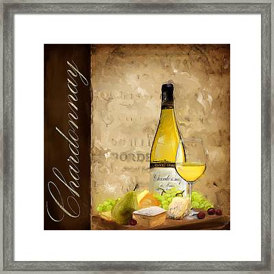 Chardonnay IIi Framed Print by Lourry Legarde