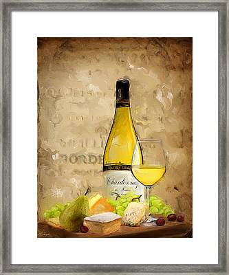 Chardonnay Iv Framed Print by Lourry Legarde