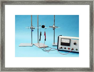 Charged Sphere In An Electric Field Framed Print by Trevor Clifford Photography