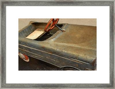 Charger Pedal Car Framed Print by Michelle Calkins