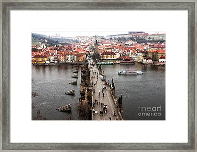 Charles Bridge I Framed Print by John Rizzuto