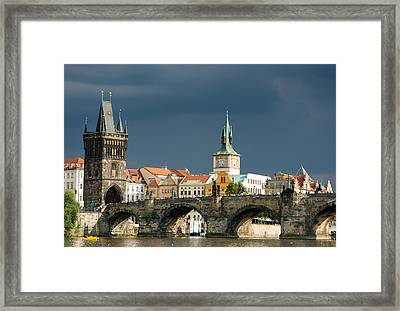 Charles Bridge Prague Framed Print by Matthias Hauser