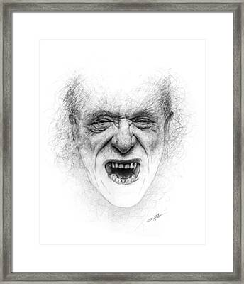 Charles Bukowski Framed Print by Christian Klute
