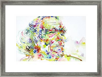 Charles Bukowski Portrait.1 Framed Print by Fabrizio Cassetta