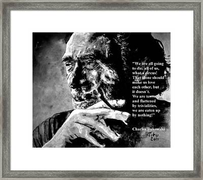Charles Bukowski Framed Print by Richard Tito