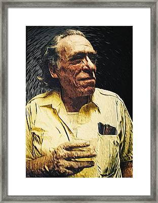 Charles Bukowski Framed Print by Taylan Soyturk