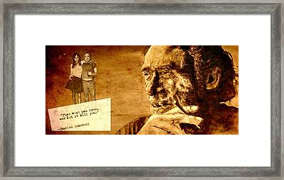 Charles Bukowski - The Love Version Framed Print by Richard Tito