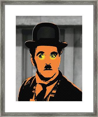 Charles Chaplin Charlot In The Great Dictator Framed Print by Art Cinema Gallery