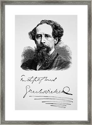 Charles Dickens Framed Print by English School