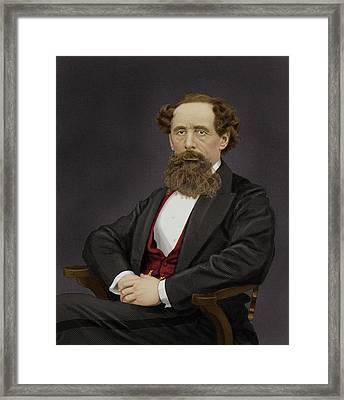 Charles Dickens Framed Print by Maria Platt-evans