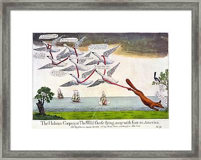Charles Fox: Cartoon, 1782 Framed Print by Granger