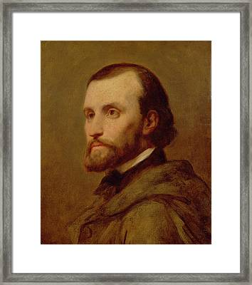 Charles Gounod Oil On Canvas Framed Print by Ary Scheffer