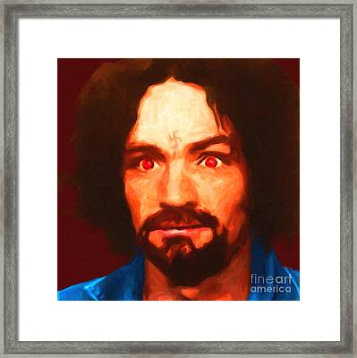 Charles Manson 20141213 Square Framed Print by Wingsdomain Art and Photography