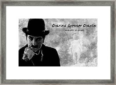 Charles Spencer Chaplin Framed Print by Florian Rodarte
